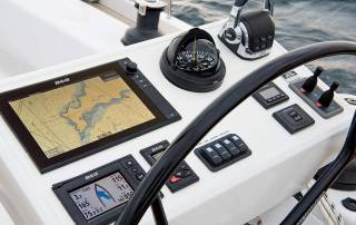 steering wheel and multi functional display winch dbg charter la spezia italy