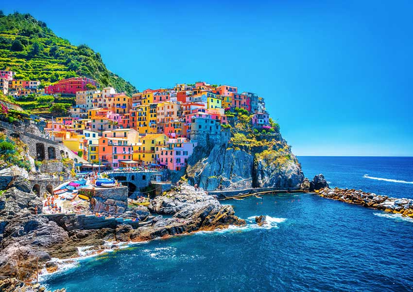 beautiful manarola village the cinque terre sailing tour italy world heritage scenery