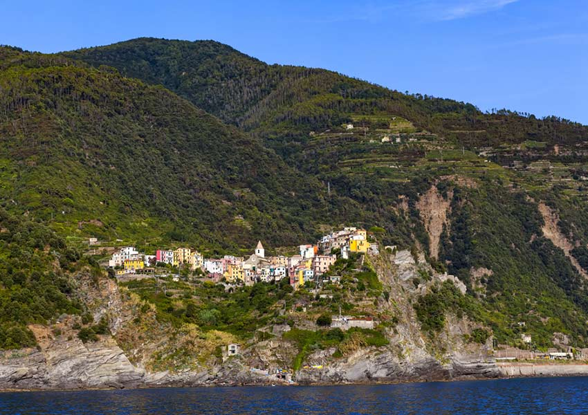 corniglia village 100 metres above sealevel private boat tour cinque terre world heritage sailing dbg charter
