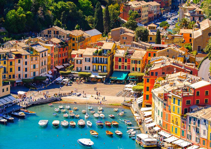 harbour of portofino italian riviera route sailing holiday italy