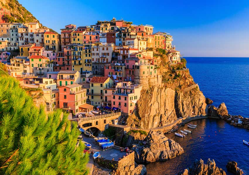 manarola village cinque terre by boat world heritage trip sailing holiday italian riviera