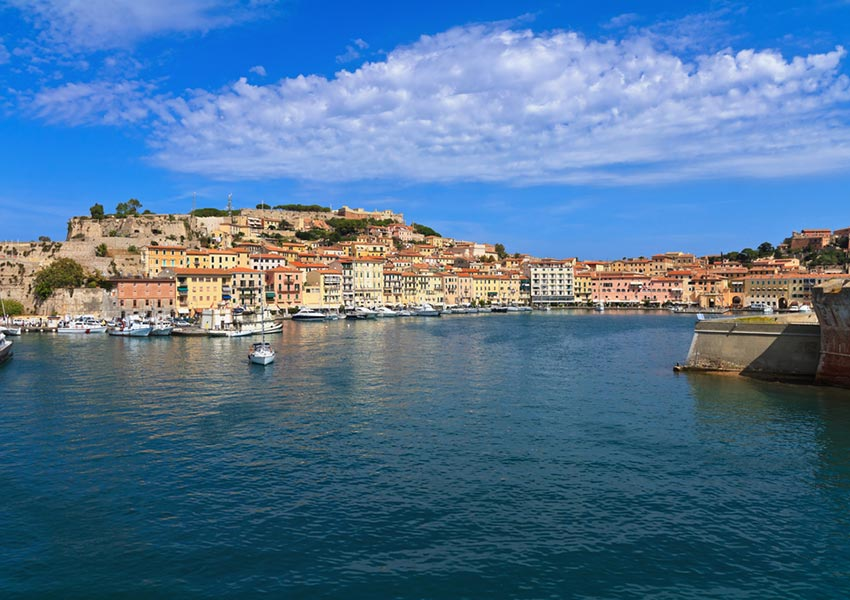 portoferraio harbour elba island mediterranean sea islands route dbg charter