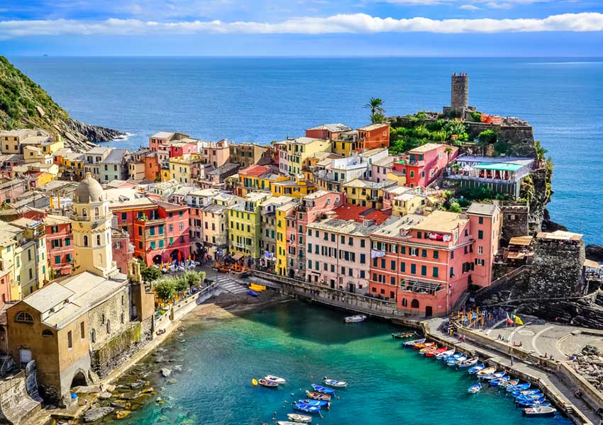 vernazza village by the sea cinque terre private yacht charter world heritage sailing route